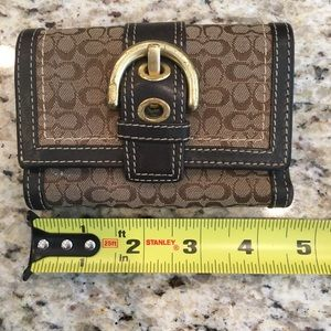 Coach Brown Logo Women's Wallet